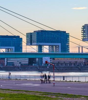 Cologne, Germany - December, 2015: Severins Bridge
